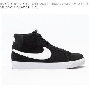 Nike SB Zoom Blazer black white mid rise sneaker 6